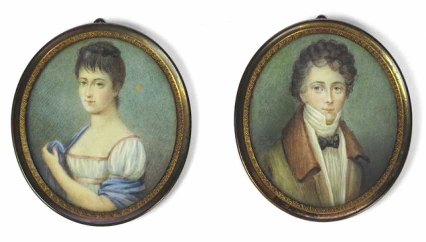 PAIR OF PORTRAITS OF A BM-MARRIAGE- - photo 1