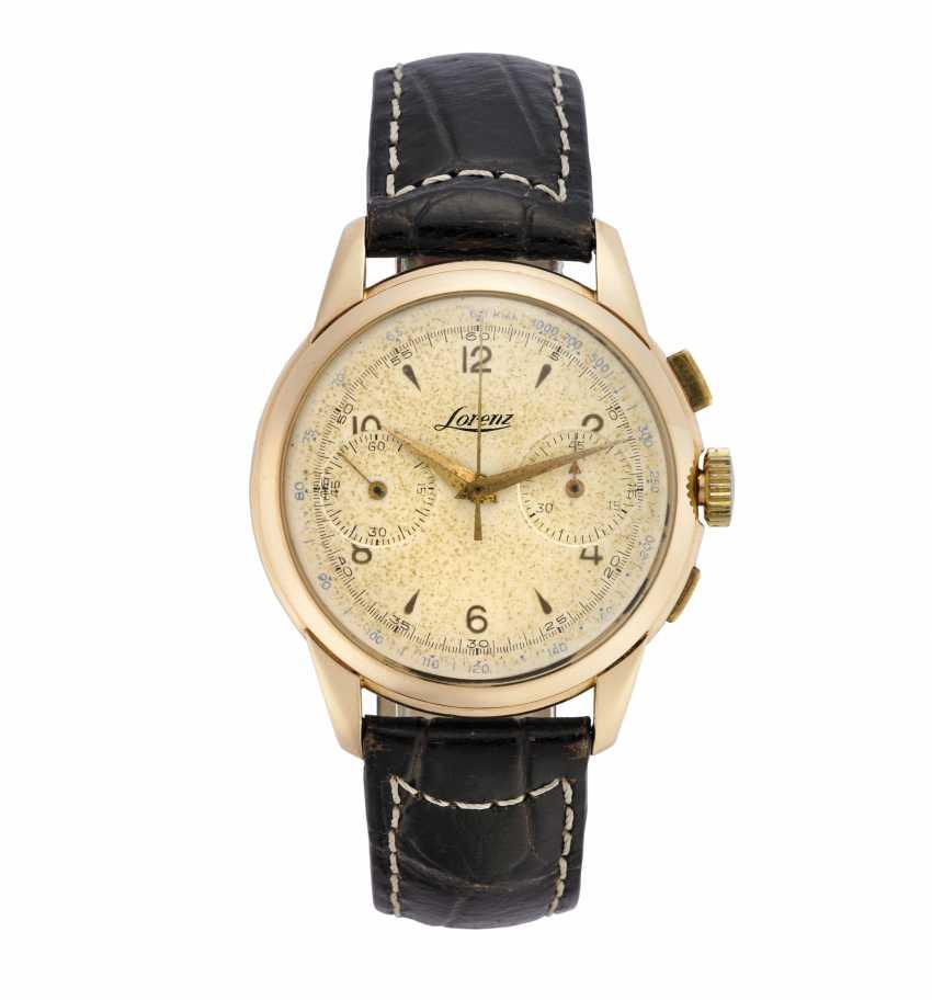 LORENZ, Cronografo: Orologio da polso da uomo in oro rosa 18K - photo 1