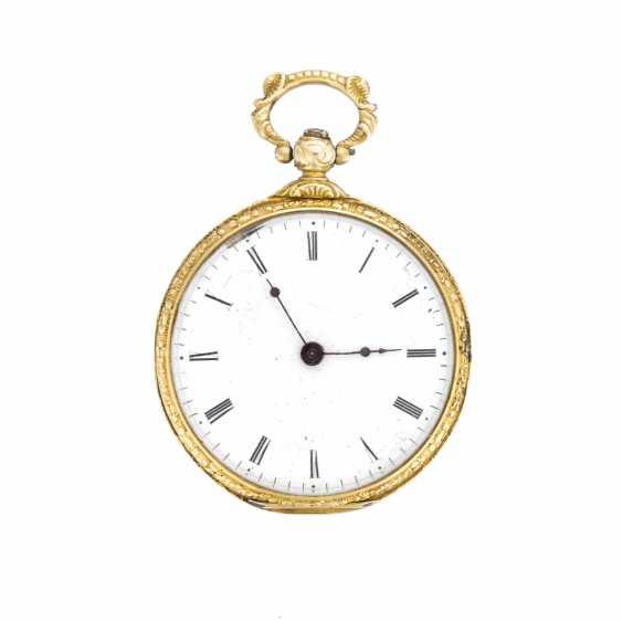 BAUTTE A GENEVE: Orologio da tasca in oro 18K e smalti policromi floreali - photo 1
