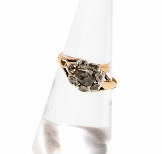 Diamond ring, 18./19. CENTURY, - photo 1
