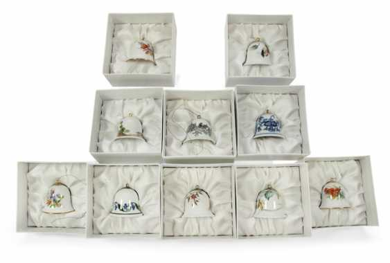 10 CHRISTMAS BELLS, MEISSEN, - photo 1
