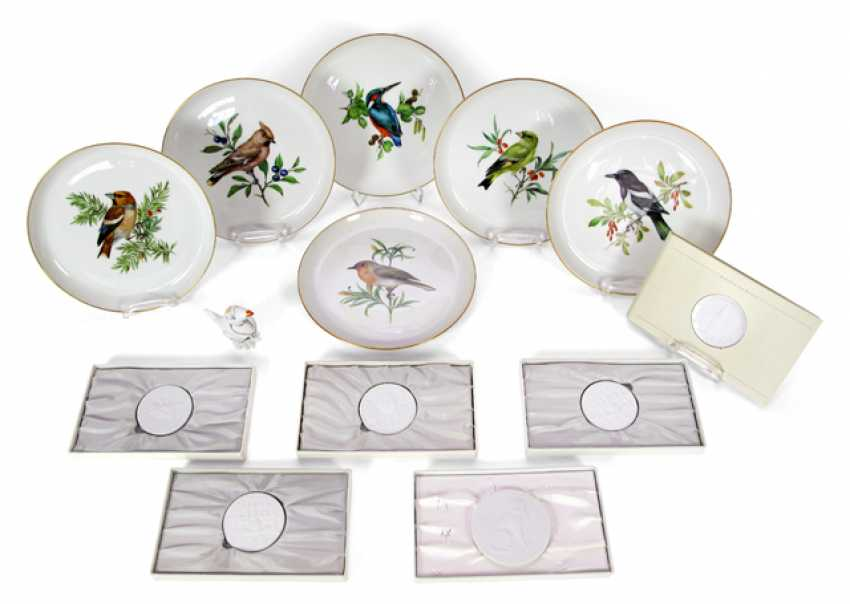 6 PLATES, BIRD, 6 PLAQUES - photo 1