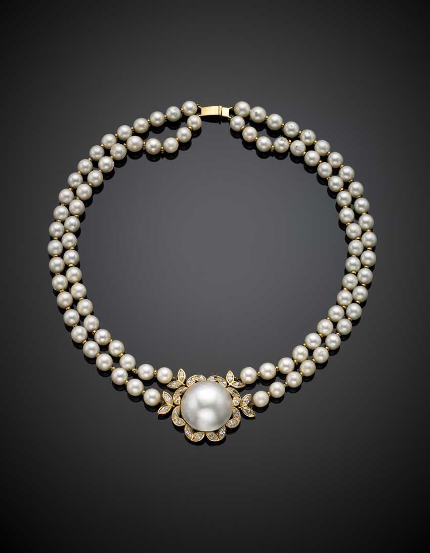 CUSI   Collana a due fili di perle coltivate con distanziatori e chiusura in oro giallo - photo 1