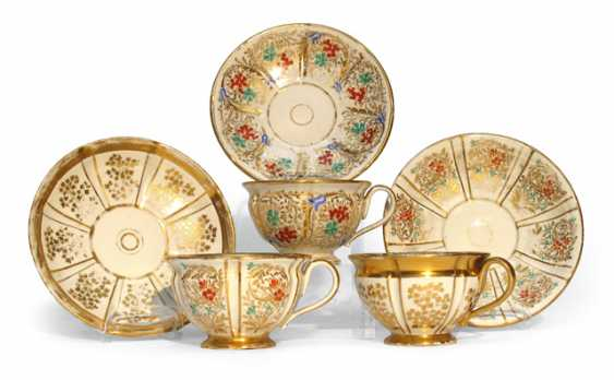 THREE CUPS WITH SAUCERS - photo 1
