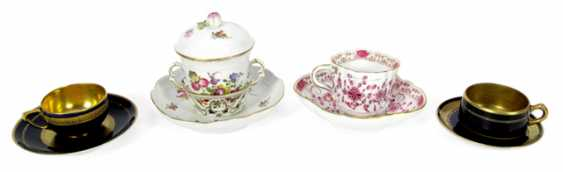 4 CUPS WITH SAUCERS, MEISSEN - photo 1