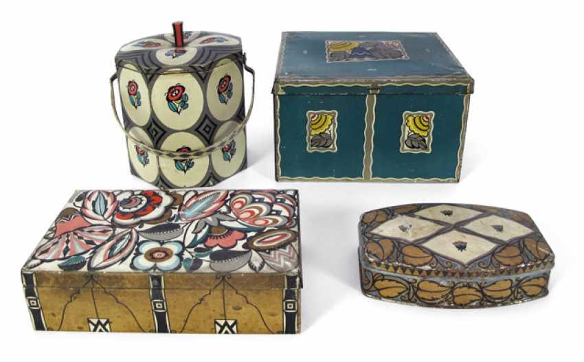 FOUR COOKIE jars, E. J. HE - photo 1