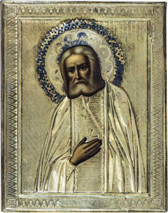 Heiliger Serafim von Sarow mit Silberoklad - photo 1