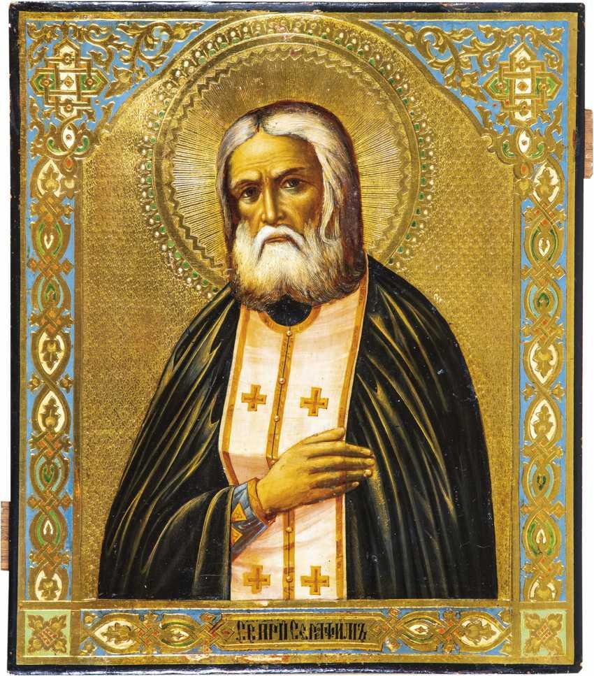 Großformatige Ikone mit dem Heiligen Seraphim von Sarow - photo 1