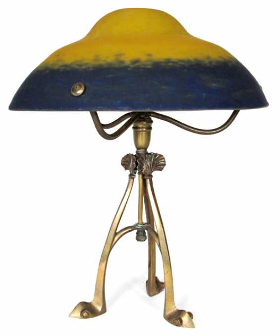 TABLE LAMP WITH A BLUE-AND-YELLOW - photo 1