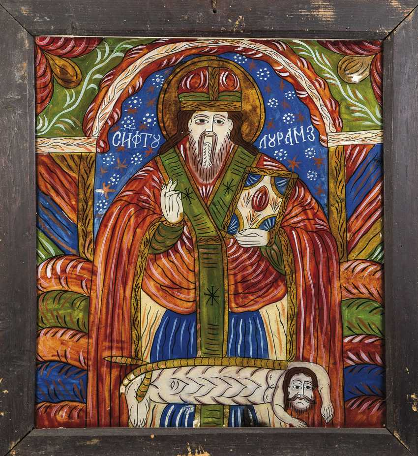 Great behind the glass of the icon with the Hl. Haralambius - photo 1