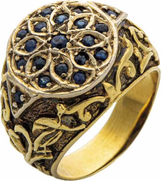 Men's ring with sapphires - photo 1