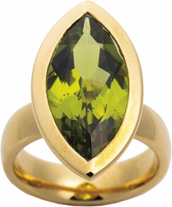 Modern Marguise Ring with Peridot - photo 1