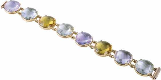 Bracelet with color gems - photo 1