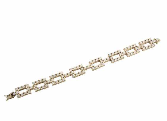 Yellow gold bracelet with diamonds - photo 1