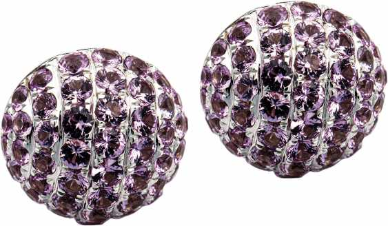 Stud earrings with pink sapphires - photo 1