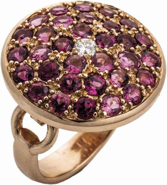 Tourmaline ring with brilliant-solitaire - photo 1