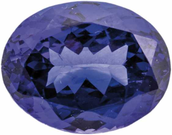 Oval faceted tanzanite - photo 1