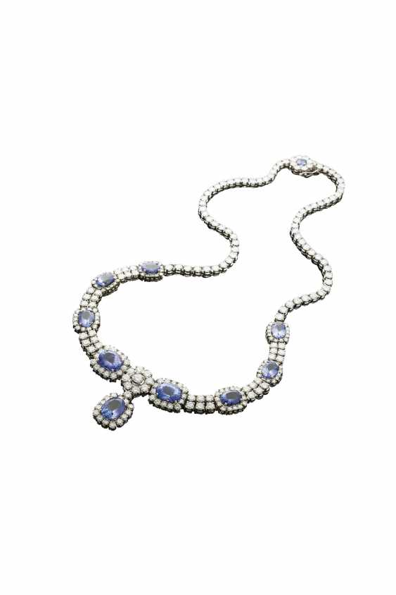 High-carat brilliant necklace with Tansaniten - photo 1