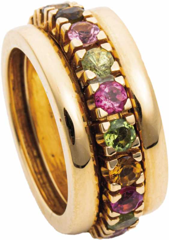Band ring with multi-colored tourmalines - photo 1