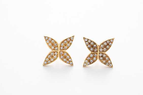 Stud earrings with diamonds - photo 1