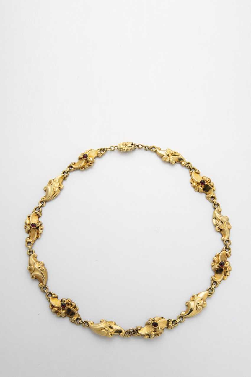 Necklace with garnet - photo 1