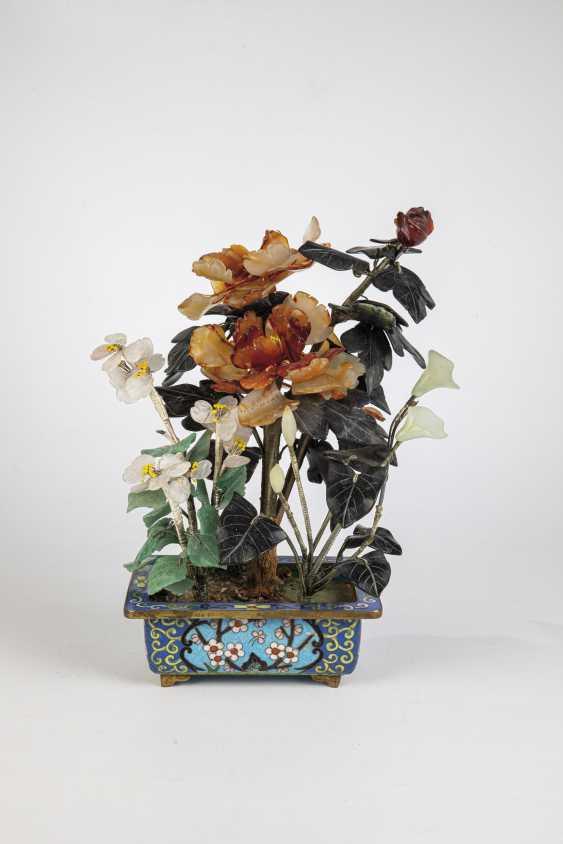 Flower branch in Cloisonné enamel bowl - photo 1