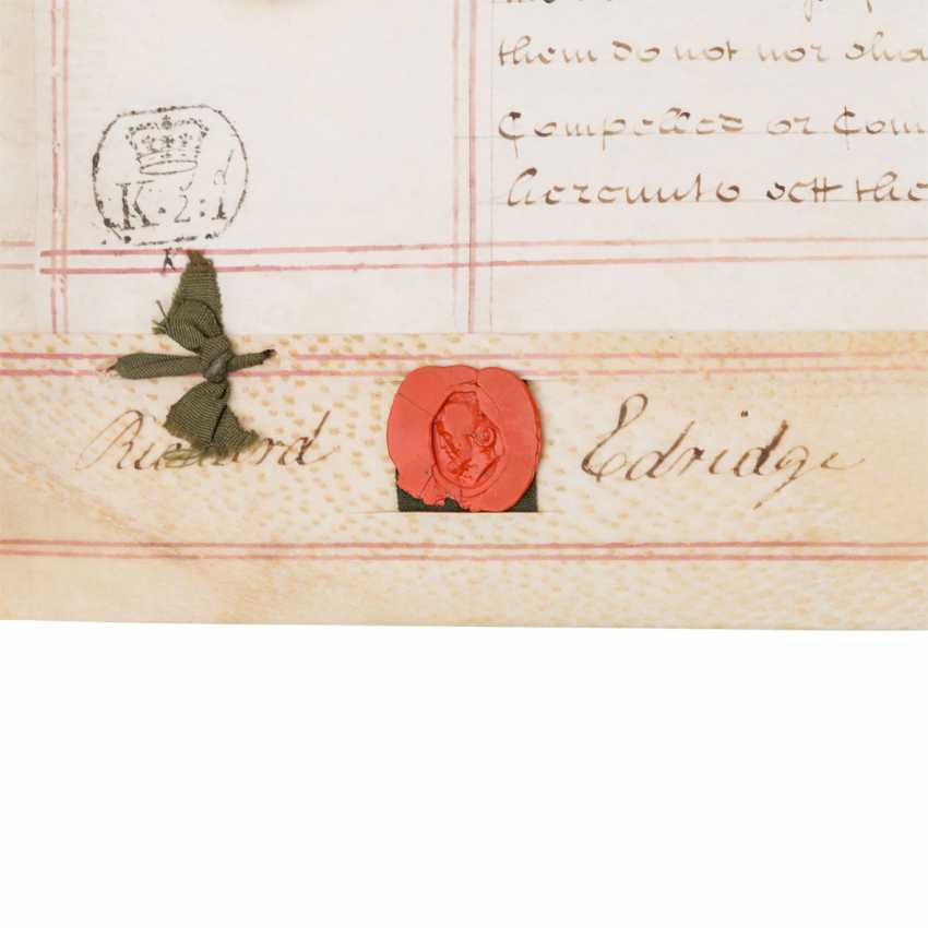 4-sided certificate of the UK, with 4 seals - photo 2