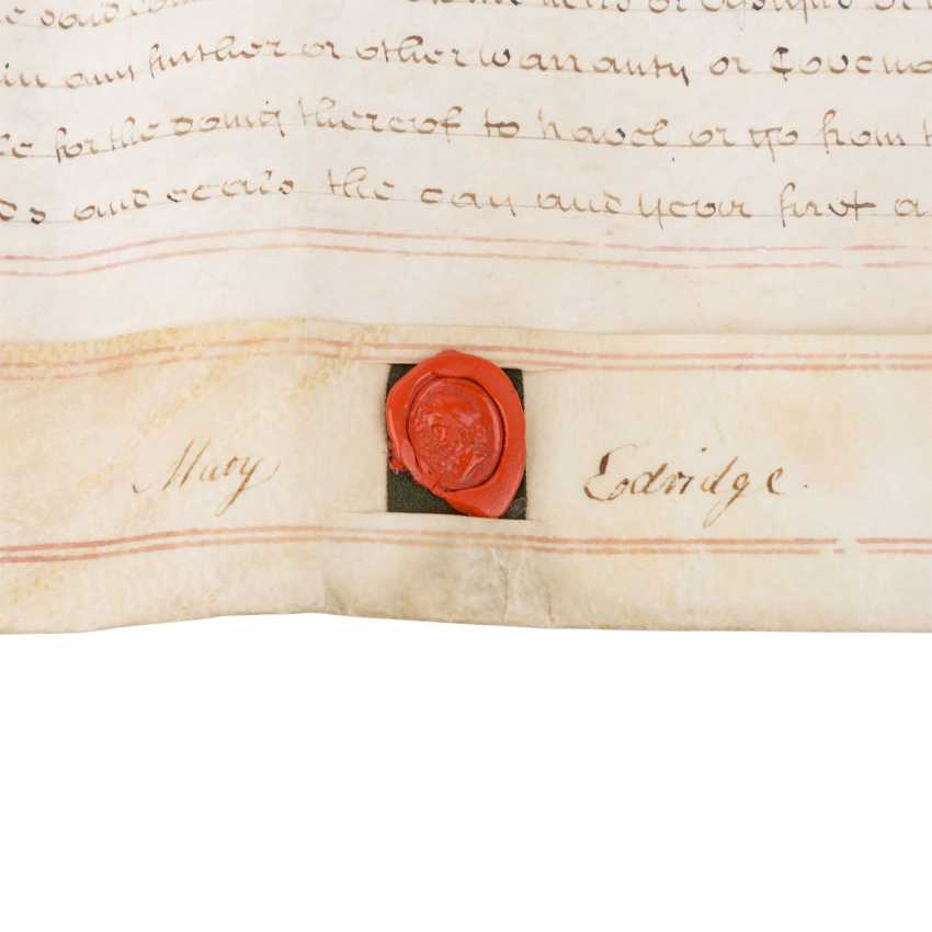 4-sided certificate of the UK, with 4 seals - photo 3