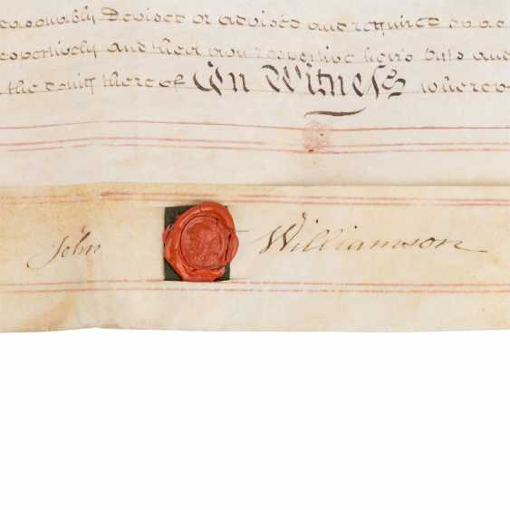 4-sided certificate of the UK, with 4 seals - photo 5