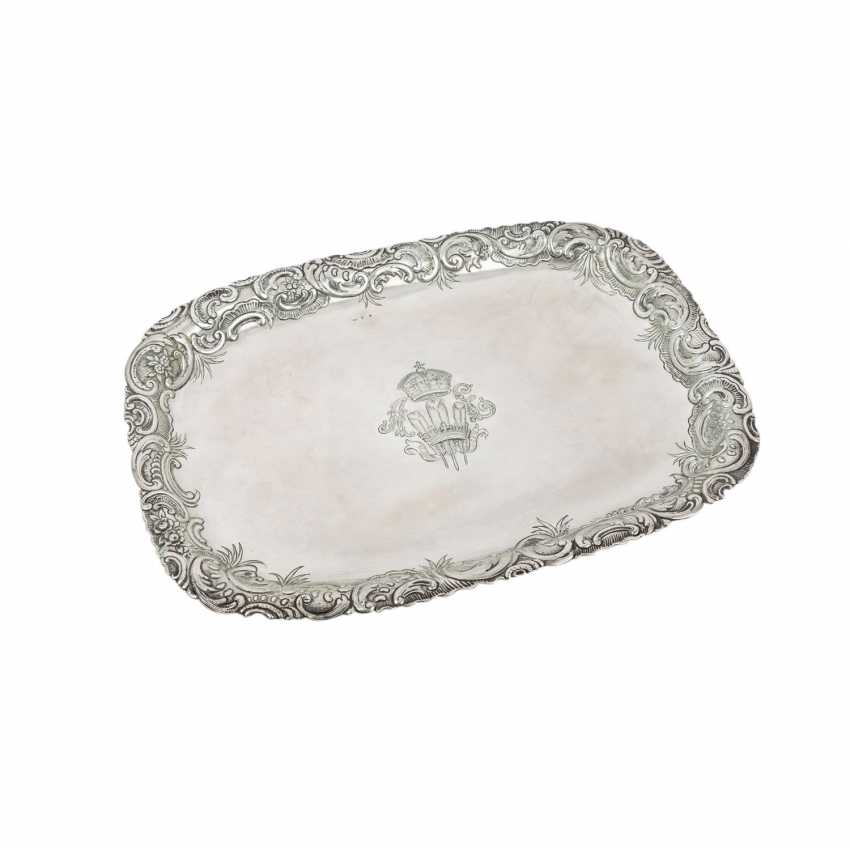 PRINCE OF WALES very rare ceremonial tray, German 800 silver, - photo 4