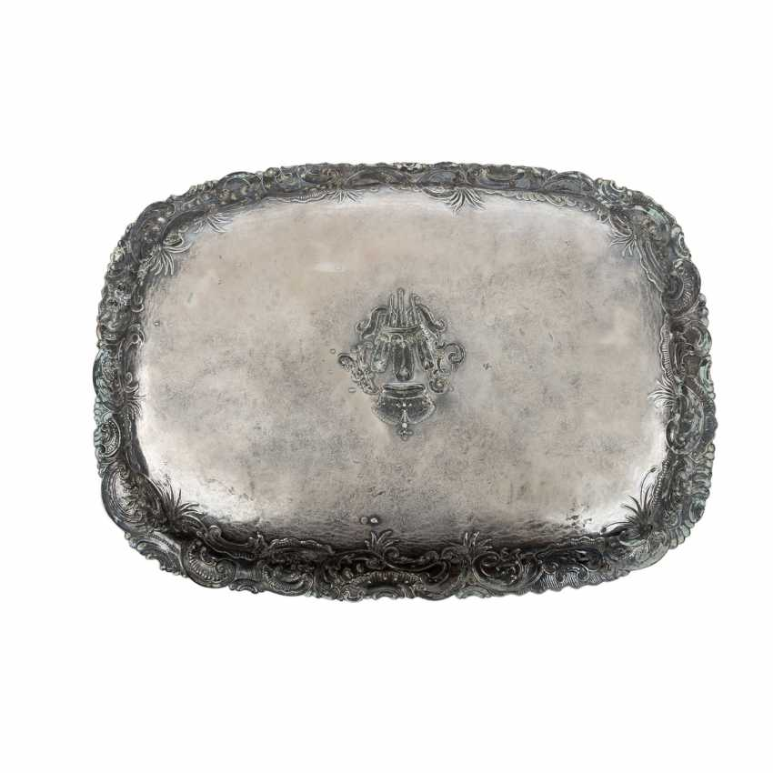 PRINCE OF WALES very rare ceremonial tray, German 800 silver, - photo 3