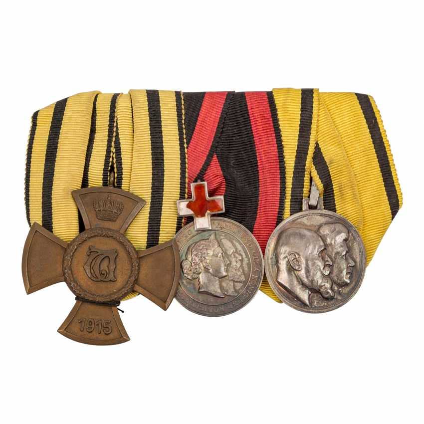 Württemberg - 3 buckle with the Silver Karl-Olga medal - photo 2