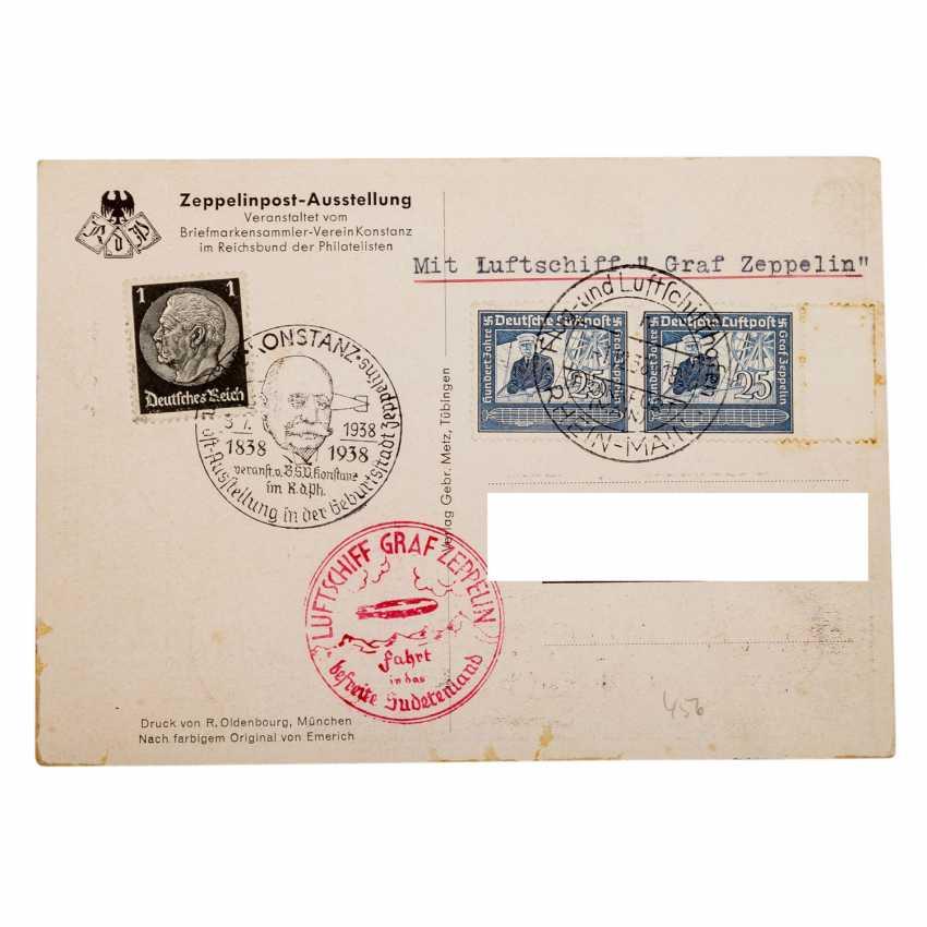 Zeppelin-Belege - Sehr interessantes Konvolut - Foto 3