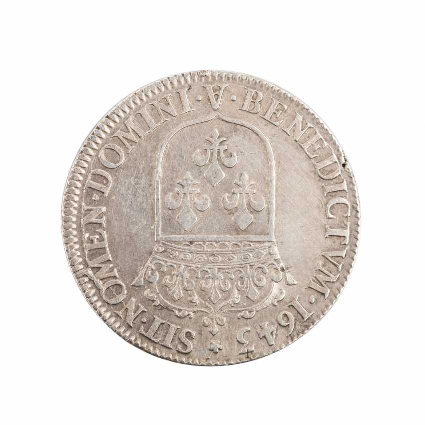 France - Louis XIII, 1610-1643, 1/4 Ecu 1643 A, Paris. - photo 2