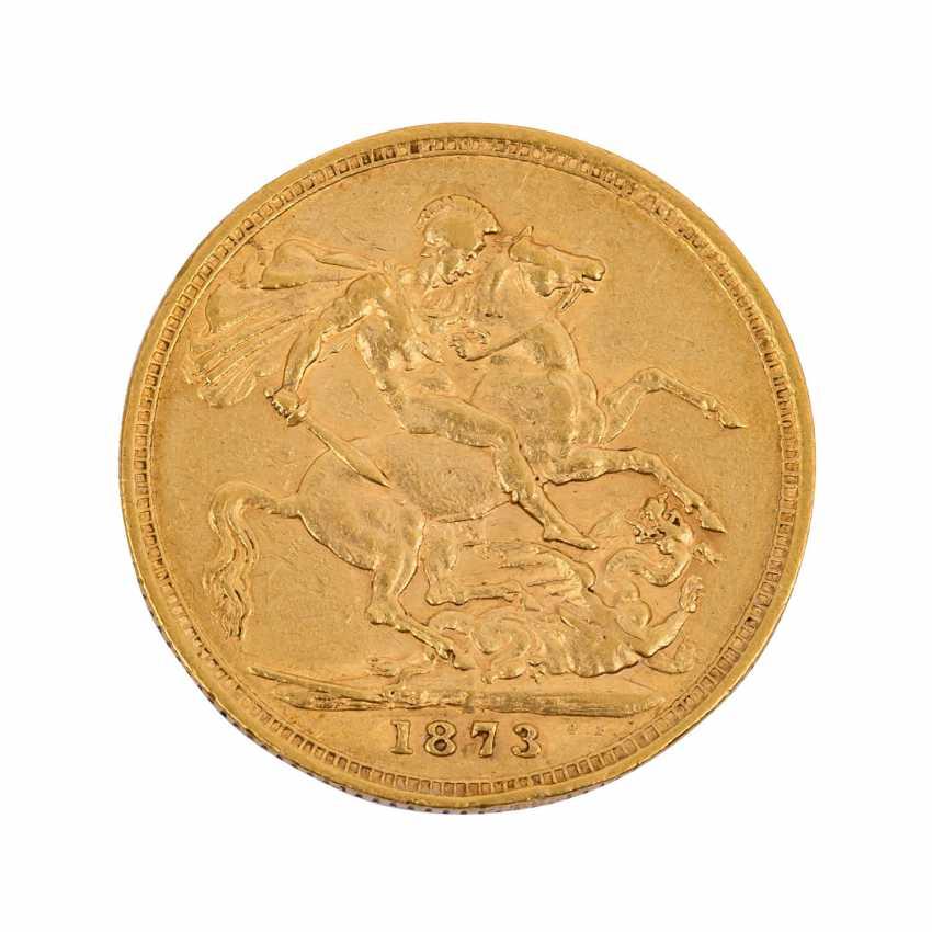 UK / Australia - Sovereign 1873/M, - photo 2