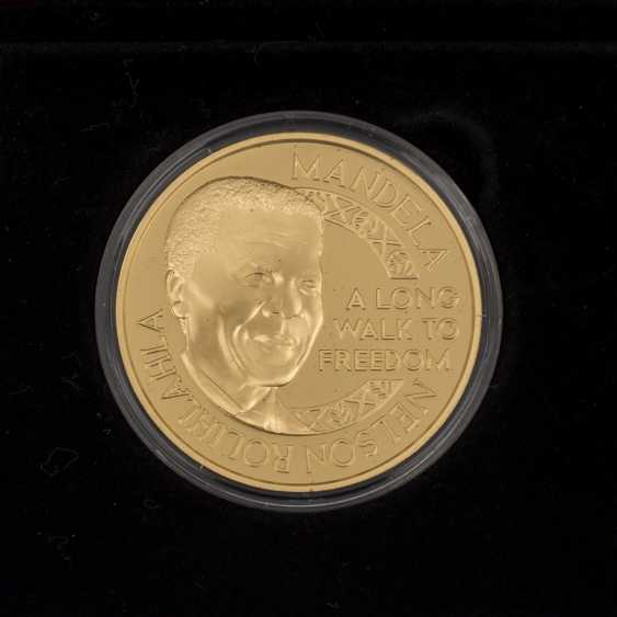 South Africa - Nelson Mandela Rugby Set, with 2 ounces of Gold fine, - photo 2