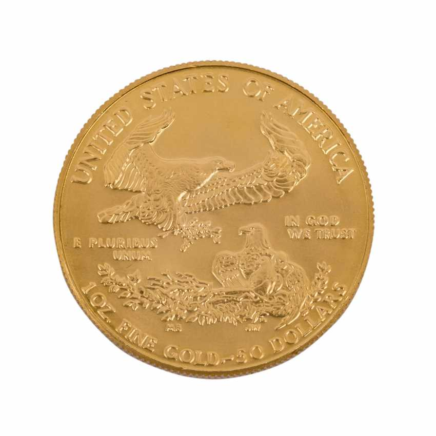 USA/GOLD - 50 Dollars 1986, vz-stgl., American Eagle, - photo 2