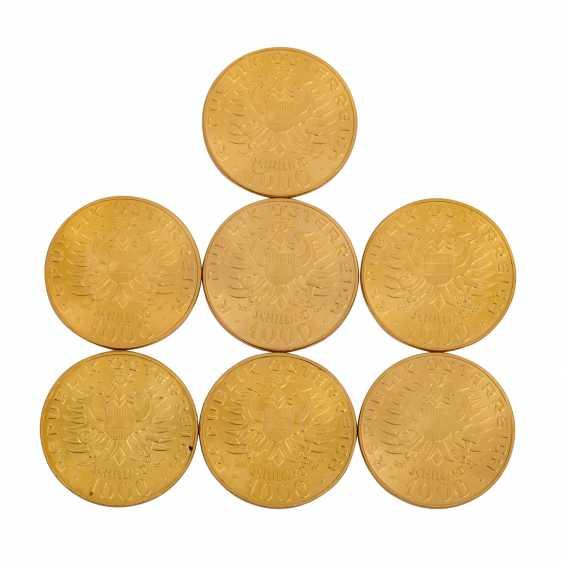 Austria/GOLD - 7 x 1000 Schilling babenberg, - photo 2