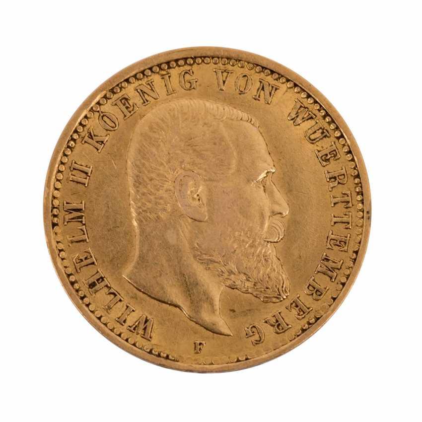 Württemberg/GOLD - 10 Mark 1905 F, Wilhelm II, - photo 1