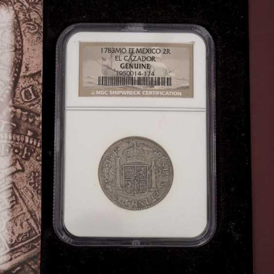 El Cazador - 2 Reales silver coin NGC Grading - photo 3
