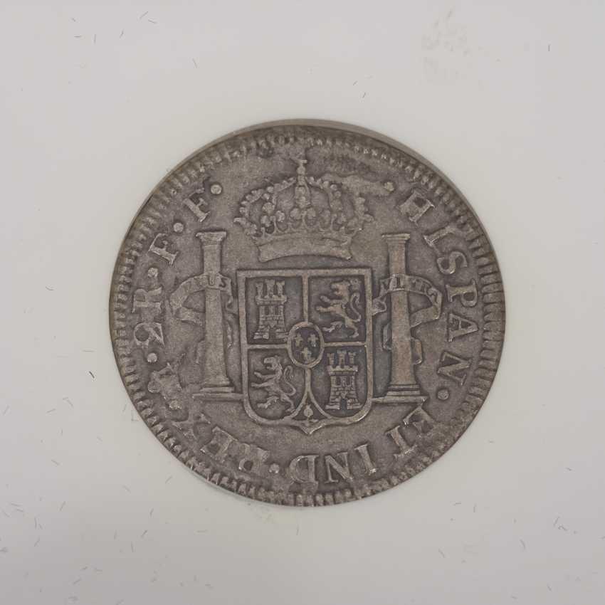 El Cazador - 2 Reales silver coin NGC Grading - photo 4