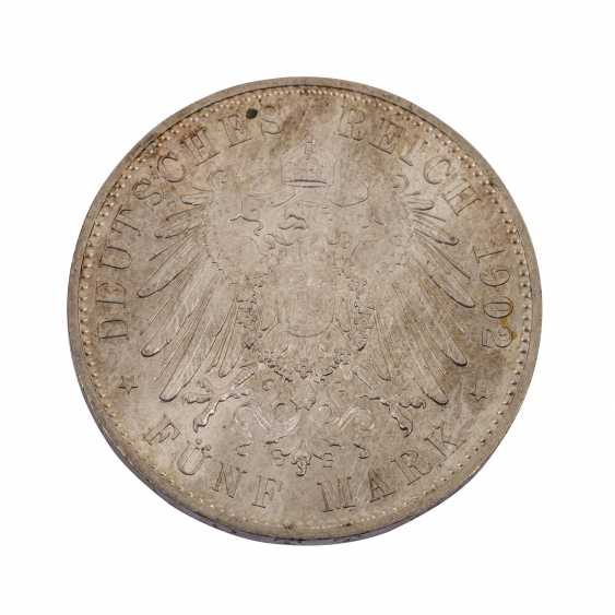 Saxony 5 Mark 1902/A, On the death of king Albert, - photo 2