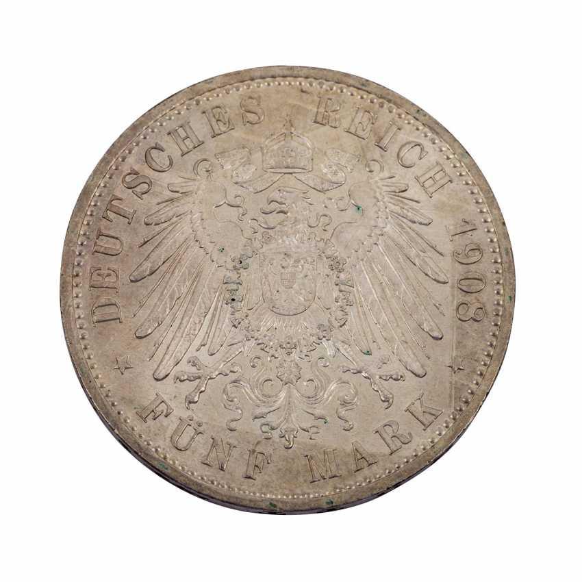 Saxe-Weimar-Eisenach 5 Mark 1908/A, - photo 2