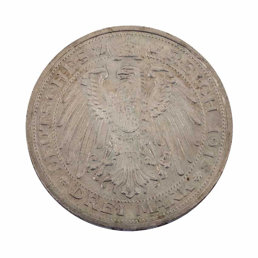 Mecklenburg-Schwerin 3 Mark 1915/A, For The Celebration Of The Century - photo 2