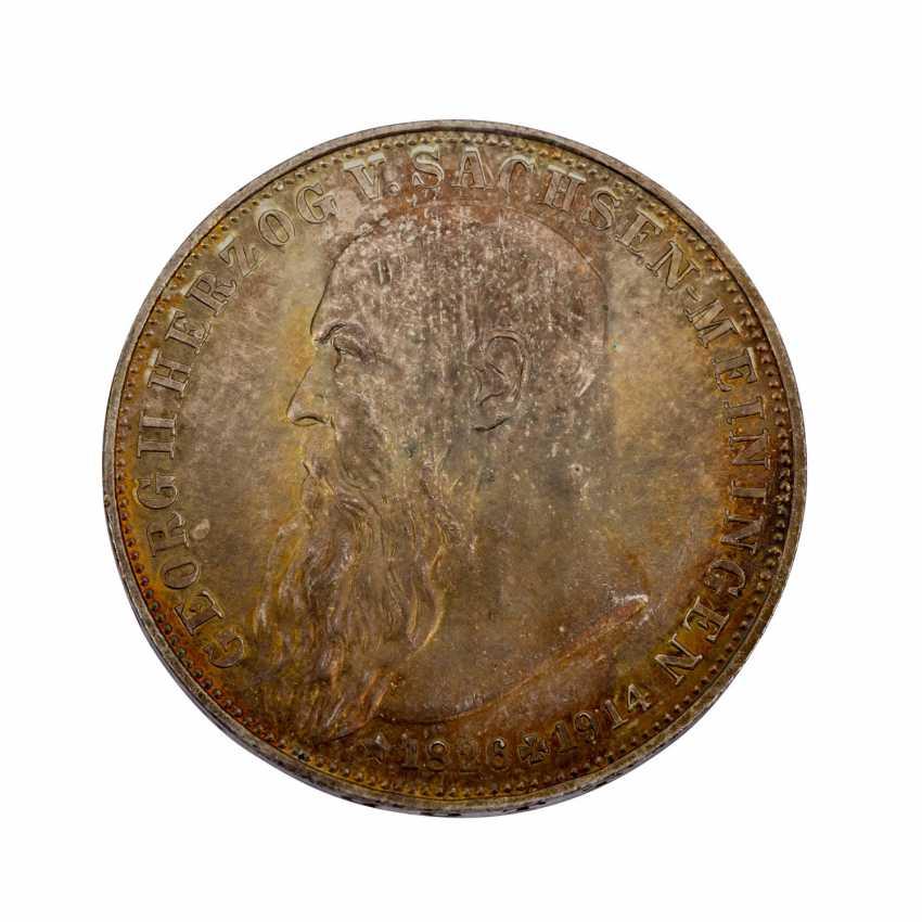 Sachsen-Meiningen - 3 Mark 1915, On the death of Duke Georg II., - photo 1