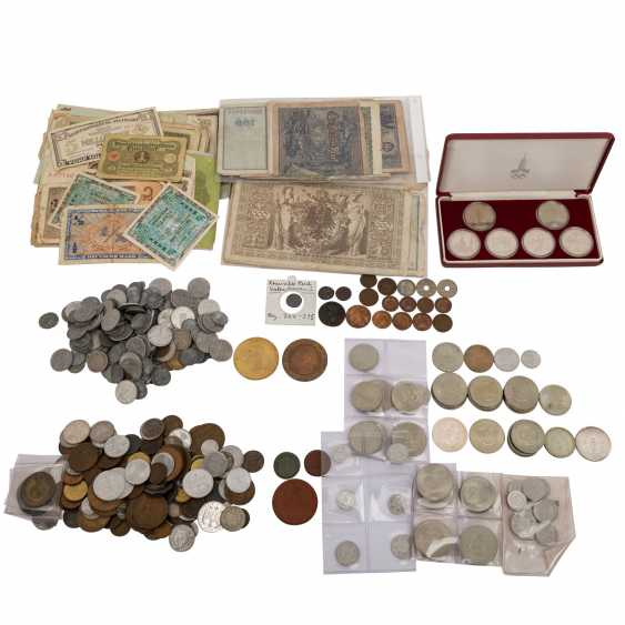 Mixed Lot with Notgeld, and the historic small coins, - photo 1