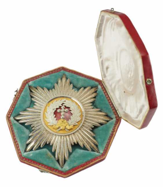 Denmark: elephant order, breast star, in a case - Grand Duke Carl Ludwig Friedrich of Baden - photo 1