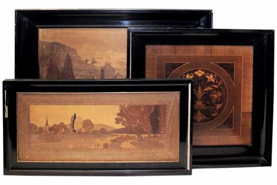 THREE MARQUETRY PICTURES, - photo 1