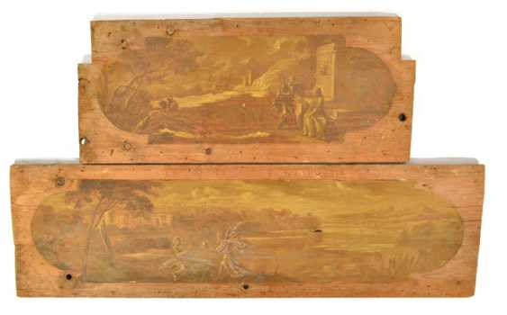TWO PAINTED PANELS, WOOD, - photo 1
