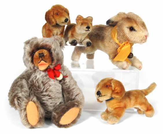 BUNNY, STEIFF, THREE DOGS, - photo 1